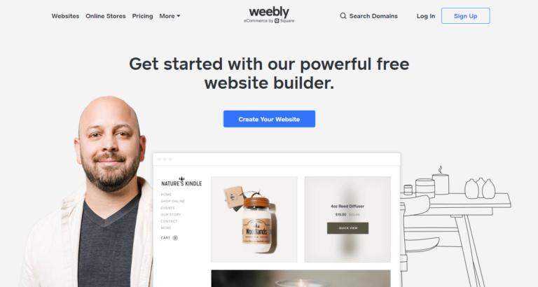 شرح موقع weebly