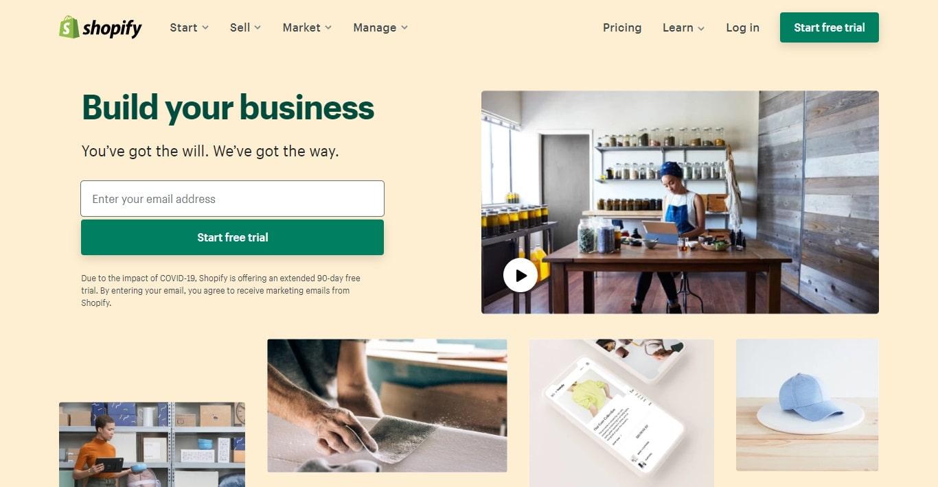 shopify انشاء متجر الكتروني