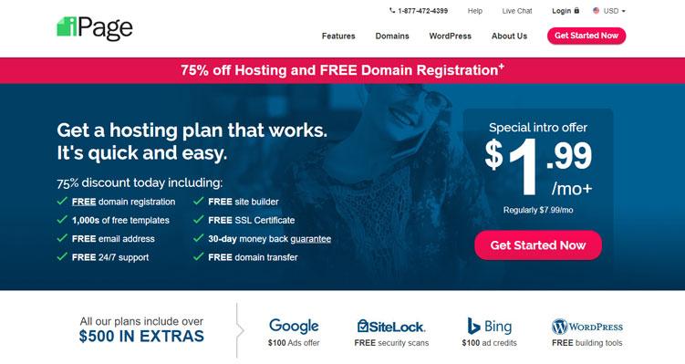 Ipage ارخص استضافة مواقع